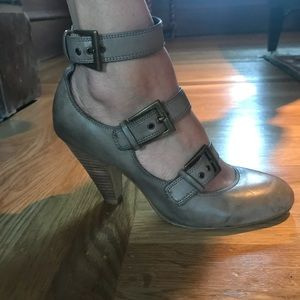 Gray Aldo Heels